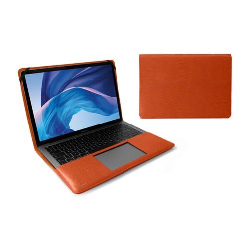 Écrin MacBook Air 13 pouces - Orange - Cuir Grainé