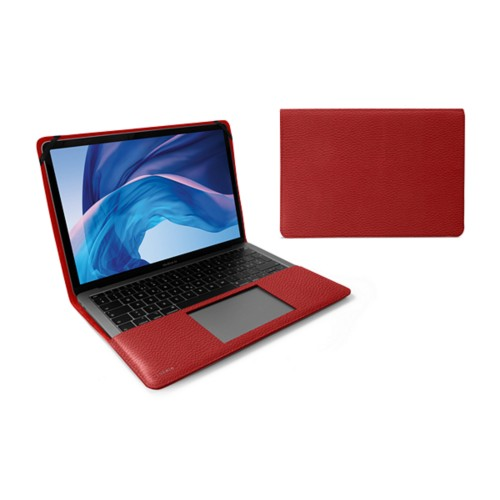 "Cover per MacBook Air 13"" - Rosso - Pelle Ruvida"