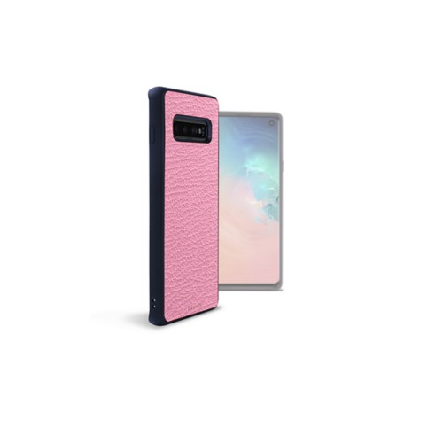 Samsung Galaxy S10用バックカバー - Pink - Goat Leather