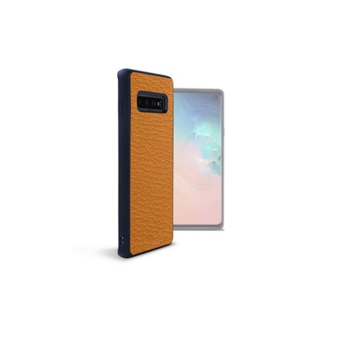 Back Cover Samsung Galaxy S10 - Saffron - Goat Leather