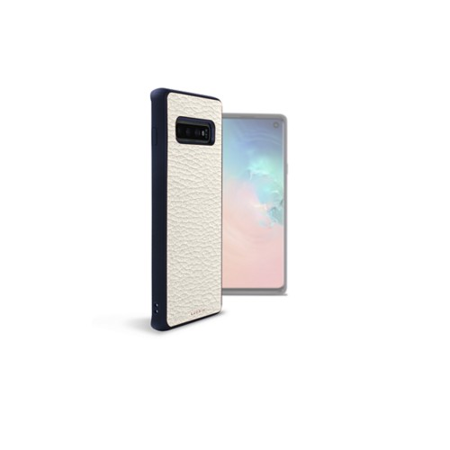 Back Cover Samsung Galaxy S10 - Off-White - Granulated Leather