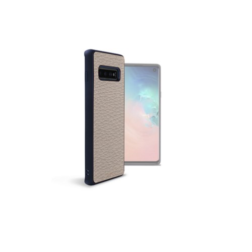 Backcover Samsung Galaxy S10 - Hellbraun - Genarbtes Leder