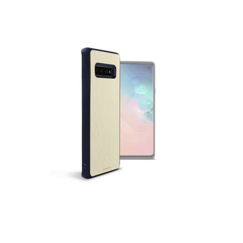 Back Cover Samsung Galaxy S10 - Off-White - Smooth Leather