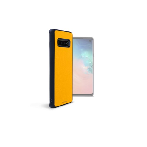 Back Cover Samsung Galaxy S10 - Sun Yellow - Smooth Leather