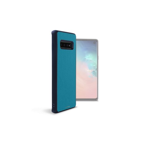 Back Cover Samsung Galaxy S10 - Turquoise - Smooth Leather