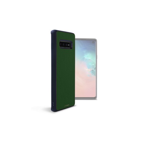 Back Cover Samsung Galaxy S10 - Dark Green - Smooth Leather