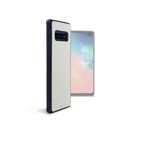 Back Cover Samsung Galaxy S10 Plus - White - Goat Leather