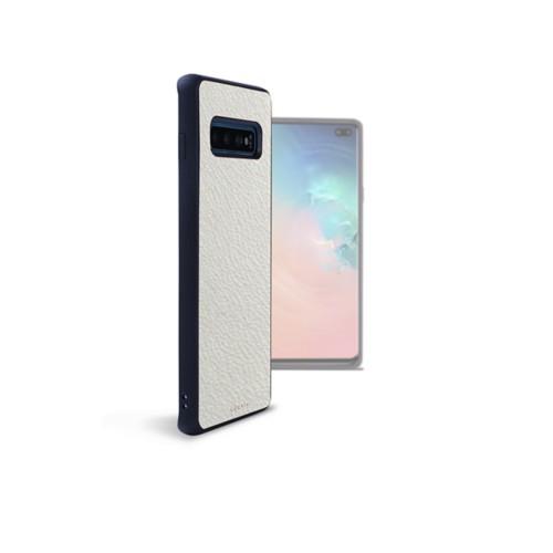 Funda trasera para el Samsung Galaxy S10 Plus - Blanco - Piel de Cabra