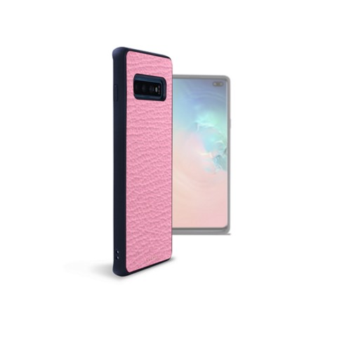 Samsung Galaxy S10 Plus用バックカバー - Pink - Goat Leather