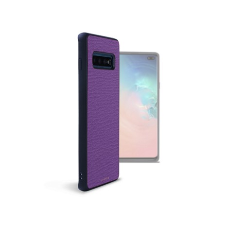 Backcover Samsung Galaxy S10 Plus - Violett - Ziegenleder