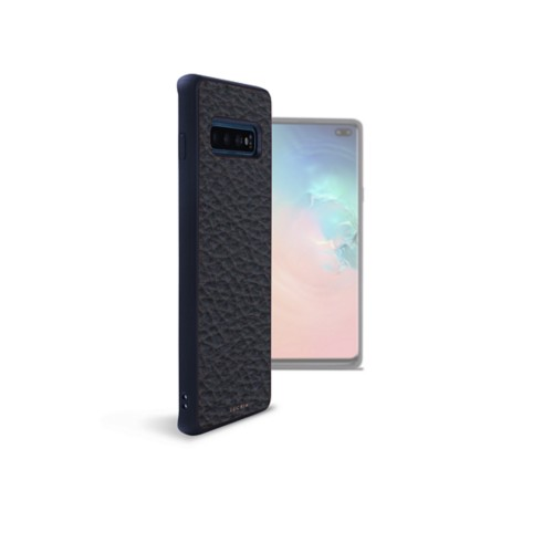 Backcover Samsung Galaxy S10 Plus - Marineblau  - Genarbtes Leder