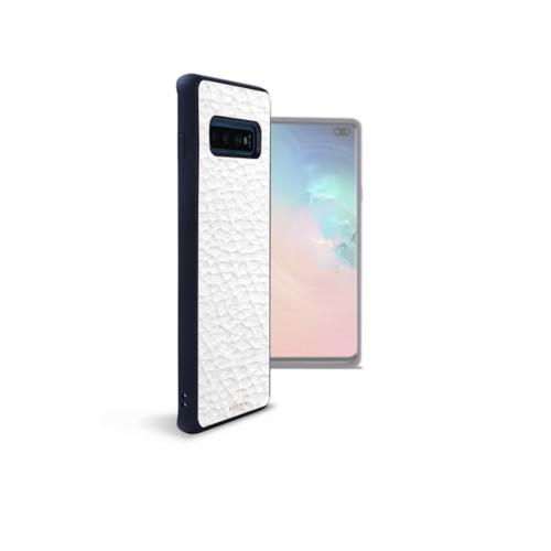 Funda trasera para el Samsung Galaxy S10 Plus - Blanco - Piel Grano