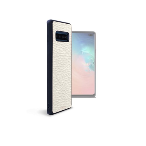 Back Cover Samsung Galaxy S10 Plus - Off-White - Granulated Leather