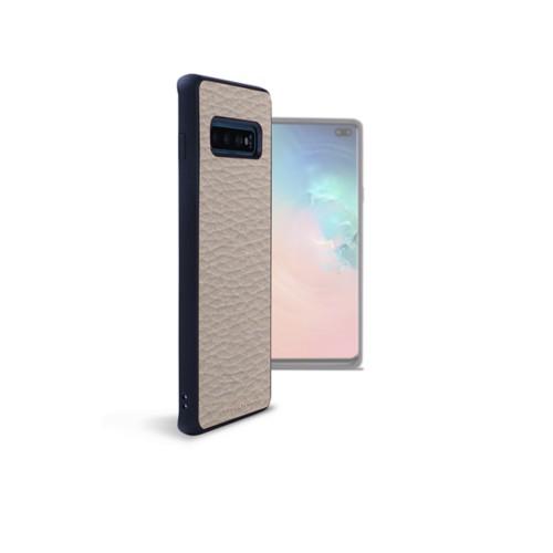 Backcover Samsung Galaxy S10 Plus - Hellbraun - Genarbtes Leder