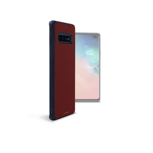 Samsung Galaxy S10 Plus用バックカバー - Burgundy - Smooth Leather