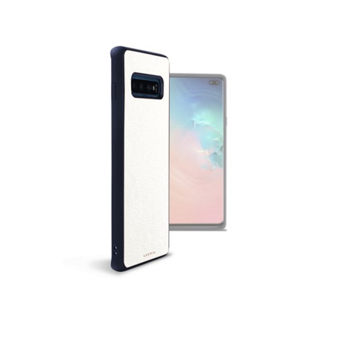 Samsung Galaxy S10 Plus用バックカバー - White - Smooth Leather