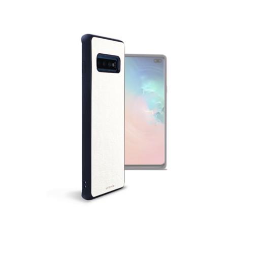 Funda trasera para el Samsung Galaxy S10 Plus - Blanco - Piel Liso