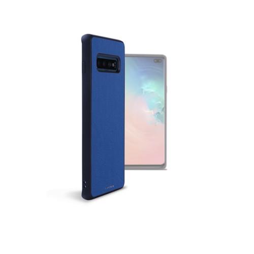 Backcover Samsung Galaxy S10 Plus - Königsblau  - Glattleder