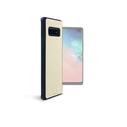 Back Cover Samsung Galaxy S10 Plus - Off-White - Smooth Leather