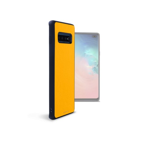 Back Cover Samsung Galaxy S10 Plus - Sun Yellow - Smooth Leather