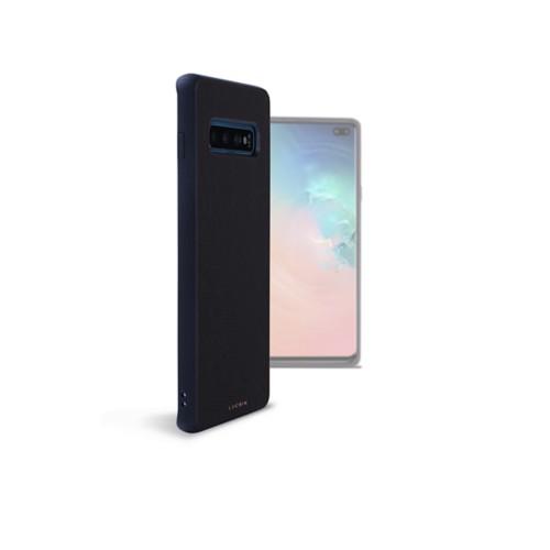 Funda trasera para el Samsung Galaxy S10 Plus - Negro - Piel Liso
