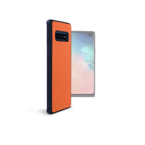 Back Cover Samsung Galaxy S10 Plus - Orange - Smooth Leather