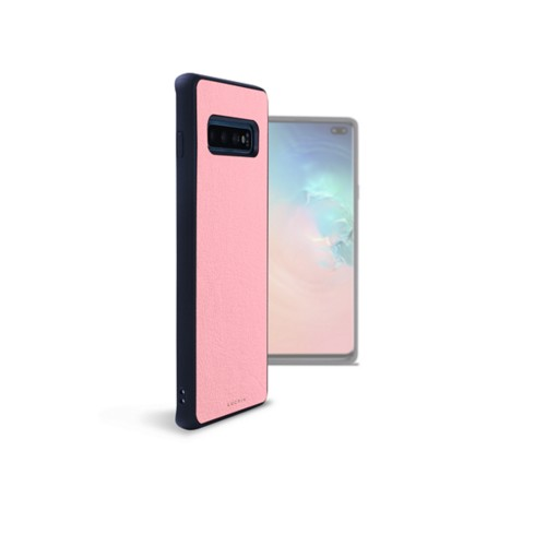 Samsung Galaxy S10 Plus用バックカバー - Pink - Smooth Leather