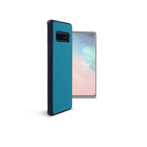 Backcover Samsung Galaxy S10 Plus - Türkisblau - Glattleder