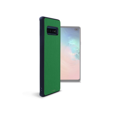 Back Cover Samsung Galaxy S10 Plus - Light Green - Smooth Leather
