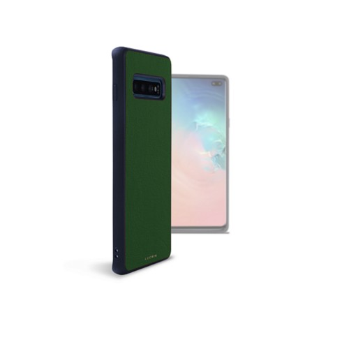 Back Cover Samsung Galaxy S10 Plus - Dark Green - Smooth Leather