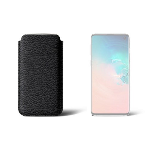 Classic Case for Samsung Galaxy S10 - Black - Granulated Leather
