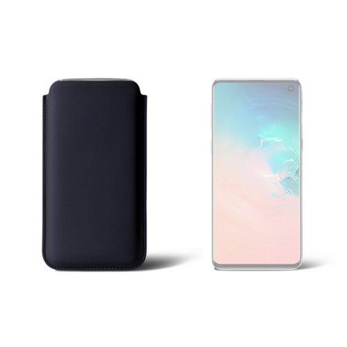 Classic Case for Samsung Galaxy S10 - Navy Blue - Smooth Leather
