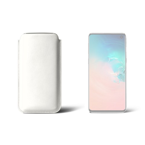 Samsung Galaxy S10用クラシックケース - White - Smooth Leather