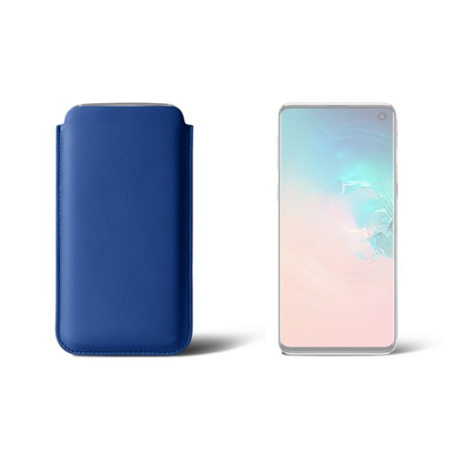 Hülle für Samsung Galaxy S10 - Königsblau  - Glattleder
