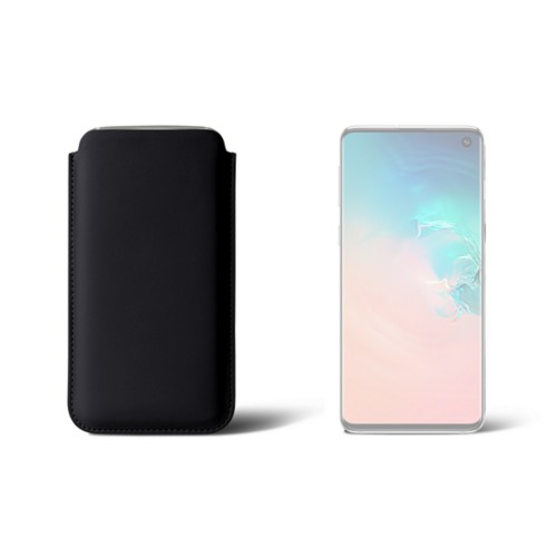Classic Case for Samsung Galaxy S10 - Black - Smooth Leather