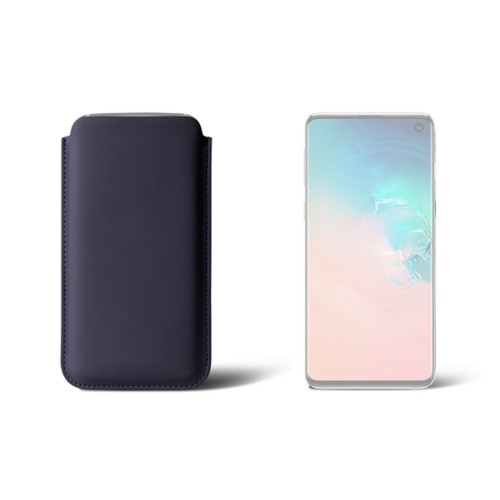Samsung Galaxy S10用クラシックケース - Purple - Smooth Leather