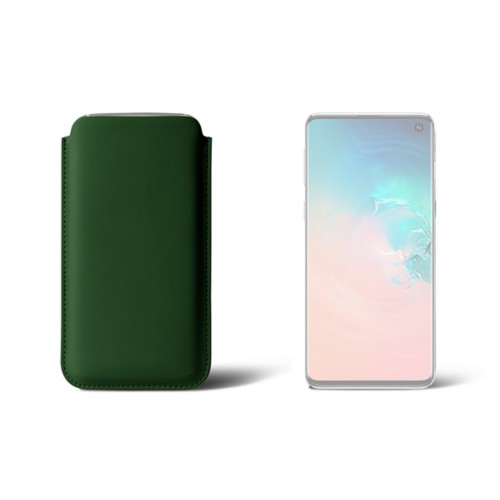 Classic Case for Samsung Galaxy S10 - Dark Green - Smooth Leather