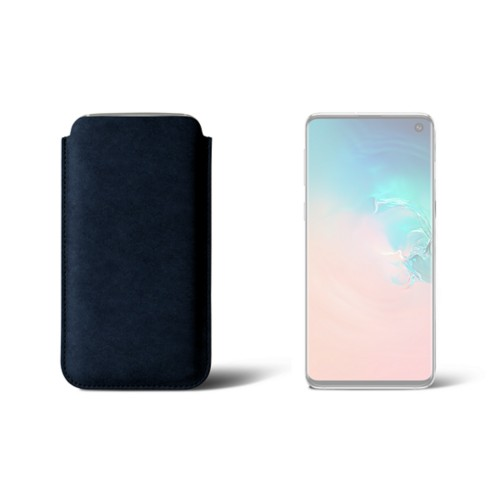 Classic Case for Samsung Galaxy S10 - Navy Blue - Vegetable Tanned Leather