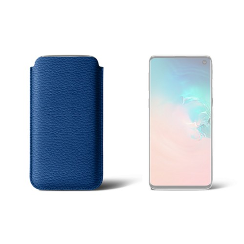 Classic Case for Samsung Galaxy S10 - Royal Blue - Granulated Leather