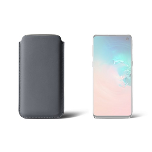 Samsung Galaxy S10用クラシックケース - Mouse-Grey - Smooth Leather