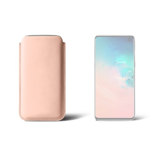 Classic Case for Samsung Galaxy S10 - Nude - Smooth Leather