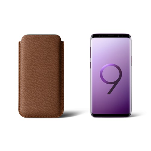 Sleeve for Samsung Galaxy S9 - Tan - Granulated Leather