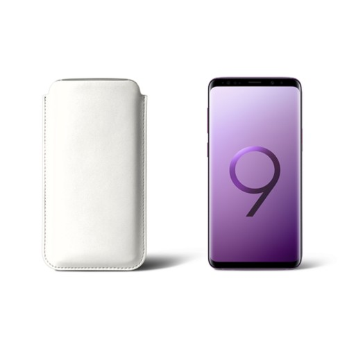 Sleeve for Samsung Galaxy S9 - White - Smooth Leather