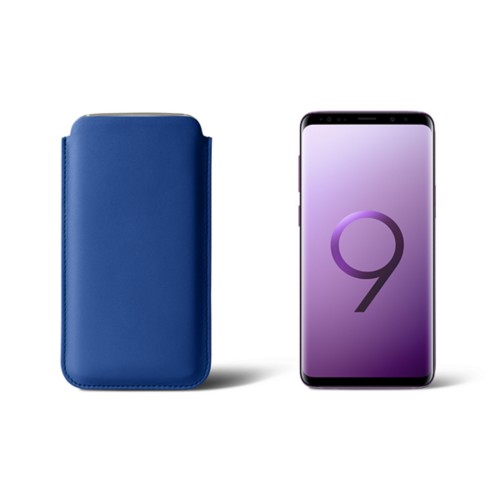 Sleeve for Samsung Galaxy S9 - Royal Blue - Smooth Leather