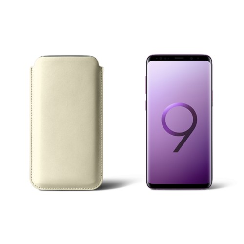 Sleeve voor Samsung Galaxy S9 - Gebroken Wit - Soepel Leer