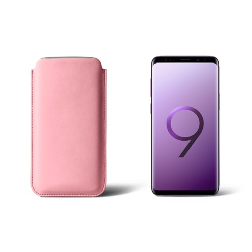 Sleeve for Samsung Galaxy S9 - Pink - Smooth Leather