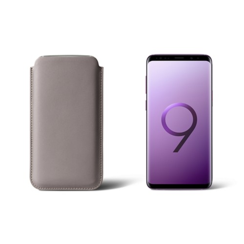 Sleeve for Samsung Galaxy S9 - Light Taupe - Smooth Leather