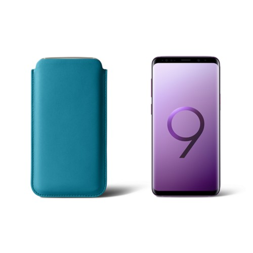 Sleeve for Samsung Galaxy S9 - Turquoise - Smooth Leather