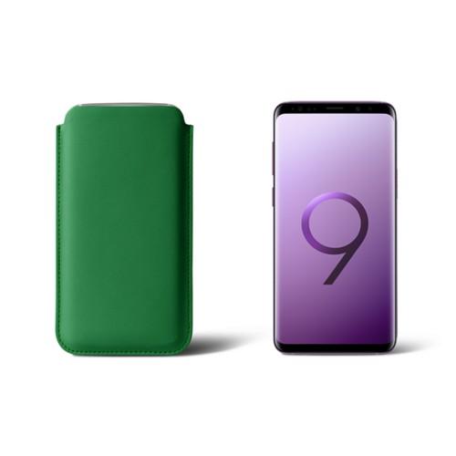 Housse pour Samsung Galaxy S9 - Vert - Cuir Lisse