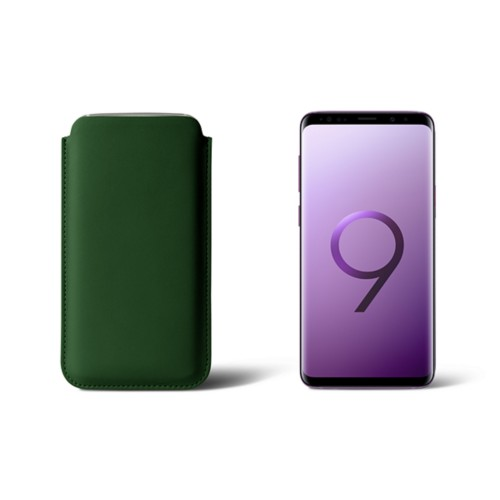 Sleeve for Samsung Galaxy S9 - Dark Green - Smooth Leather